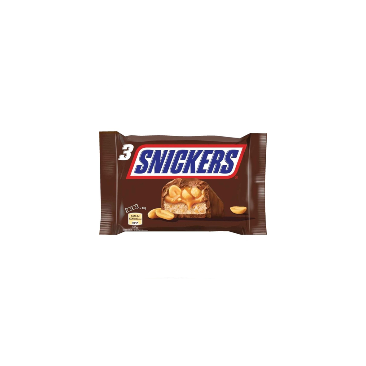 CHOCOLATE SNICKERS 3X50GR