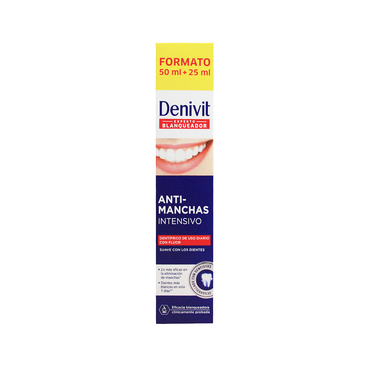 DENTÍFRICO DENIVIT ANTI-MANCHAS INTENSIVO 75ML