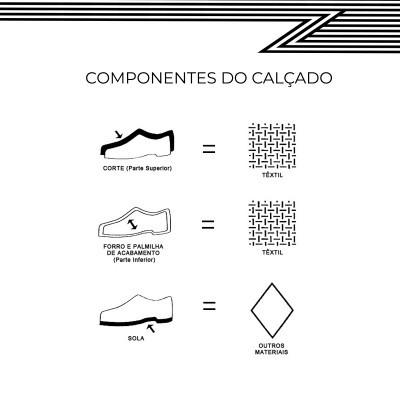 CHINELO DE QUARTO C/PADRÃO RISCAS - AZUL
